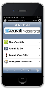 Azurati Mobile Portal for HTML5 mobile applications