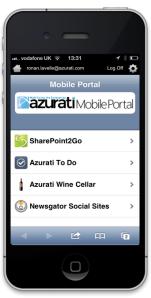 Azurati Mobile Portal for HTML5 mobile applications